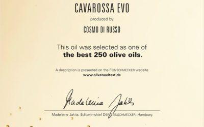 Der Feinschmecker Olio Award 2018 premia gli oli di Cosmo Di Russo